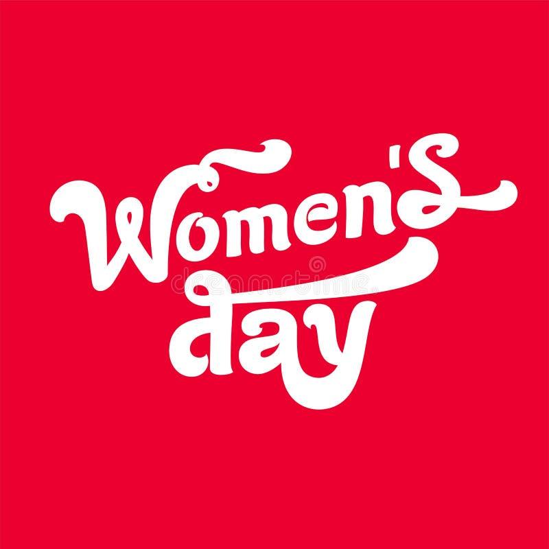 Il giorno delle donne, congratulazioni di logo sulla festa illustrazione di stock