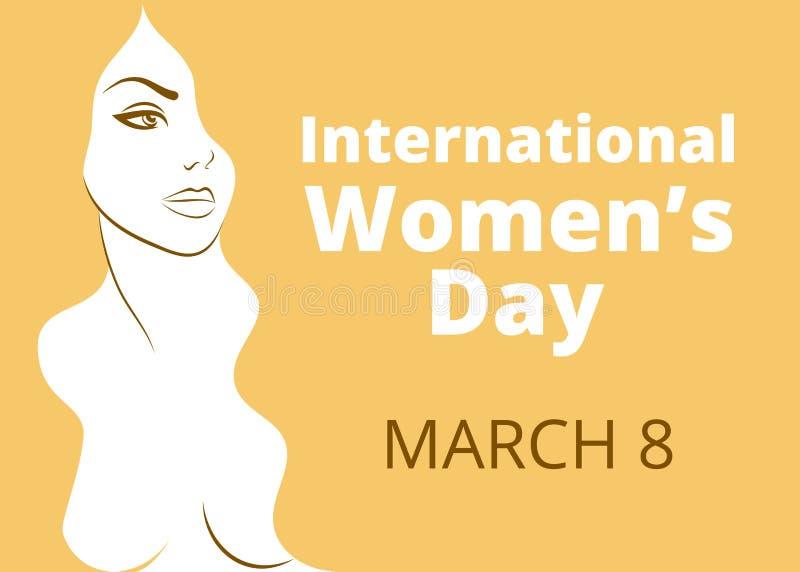 Il giorno delle donne internazionali illustrazione vettoriale