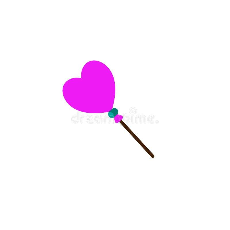 Il giorno di biglietti di S. Valentino, cuore ha modellato l'icona Elemento dell'icona di giorno di S. Valentino di web per i app illustrazione di stock