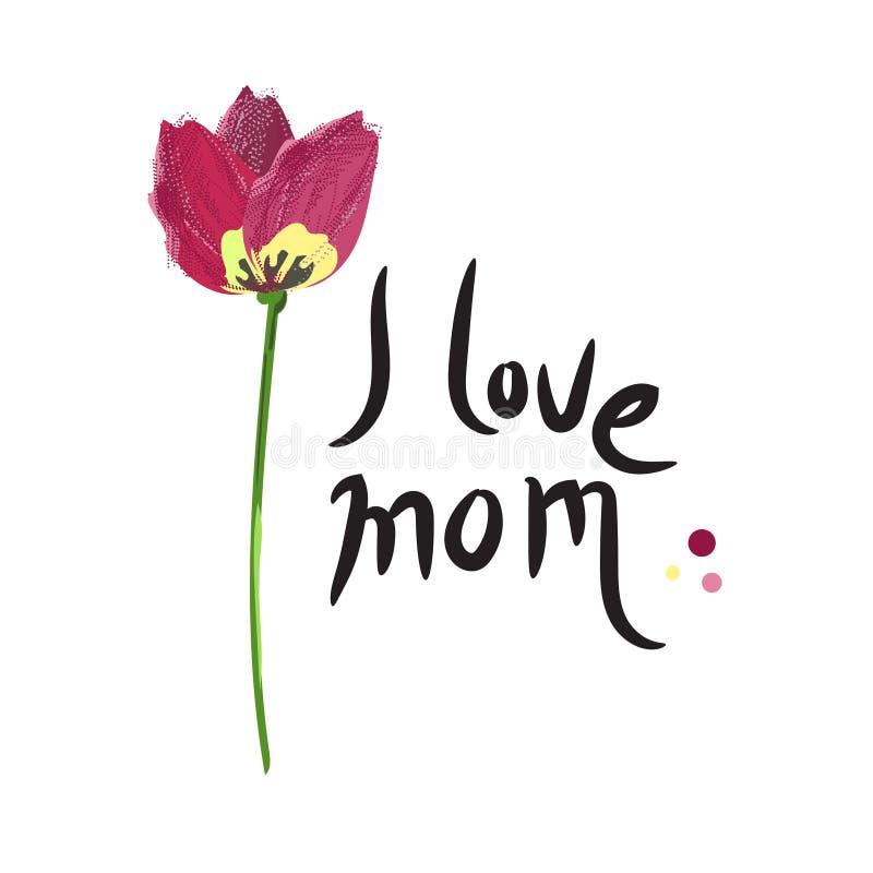 Il giorno di madri felice, amo la mamma illustrazione di stock