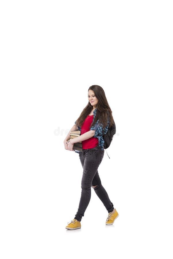 Il giovane studente che prepara per gli esami della scuola immagini stock libere da diritti