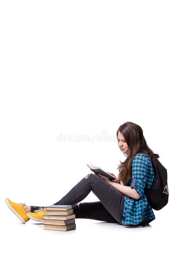 Il giovane studente che prepara per gli esami della scuola immagini stock