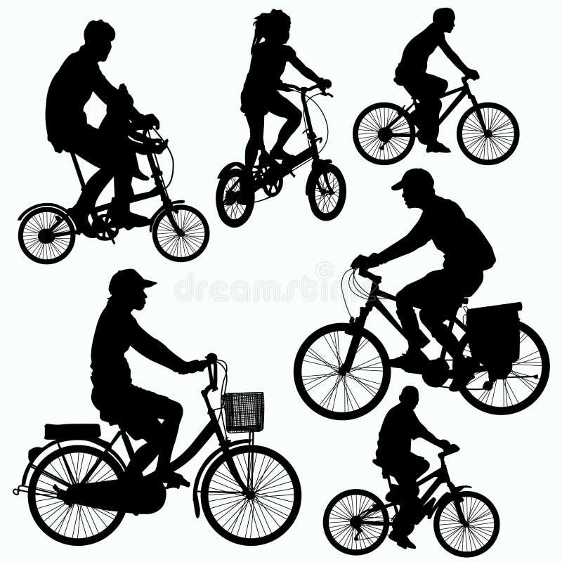 Il giro della bicicletta profila il vettore illustrazione vettoriale