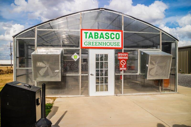 Il giro della fabbrica e dell'alimento di Tabasco in Avery Island, Luisiana fotografie stock libere da diritti