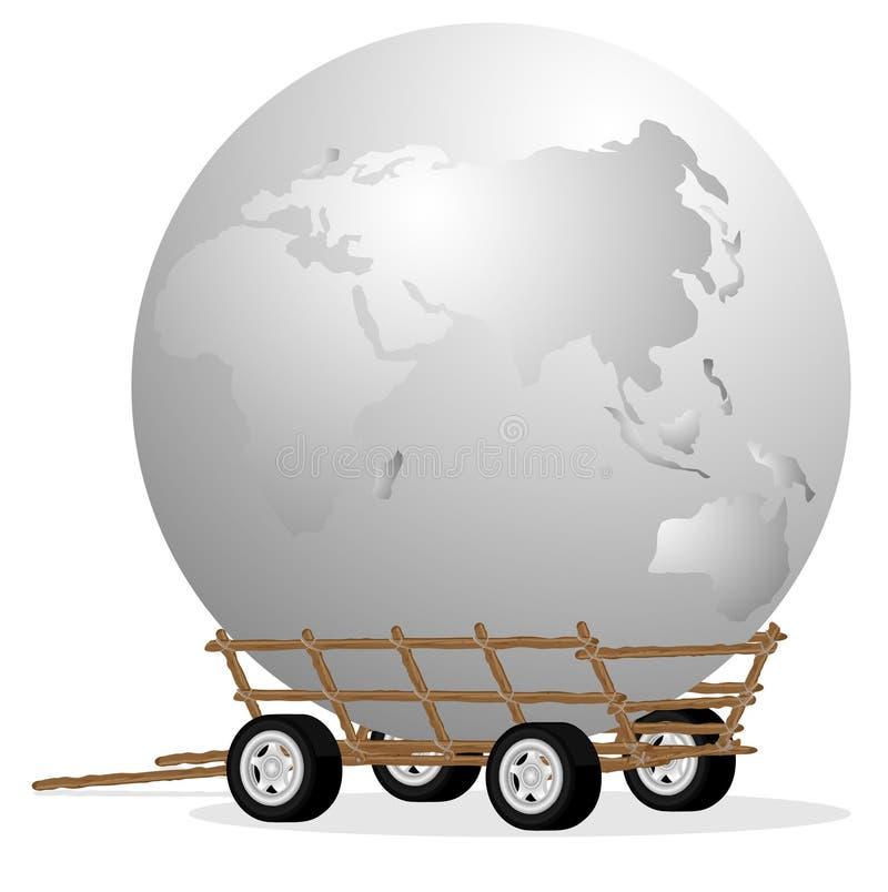 Il globo in carrello royalty illustrazione gratis
