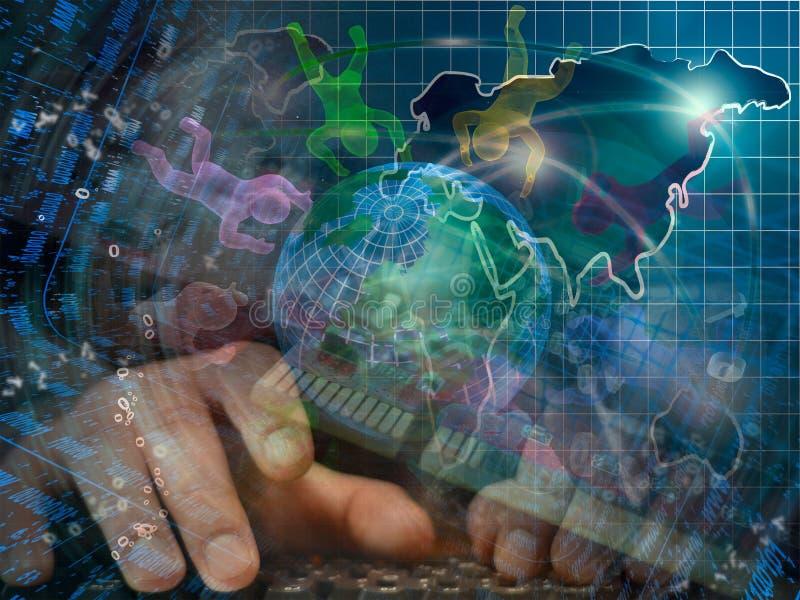 Il globo, equipaggia e cifre immagini stock libere da diritti
