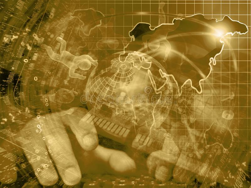 Il globo, equipaggia e cifre fotografia stock libera da diritti