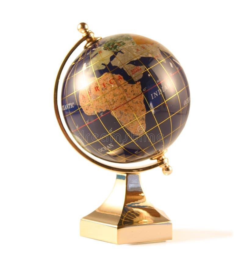 Il globo isolato su bianco immagini stock libere da diritti