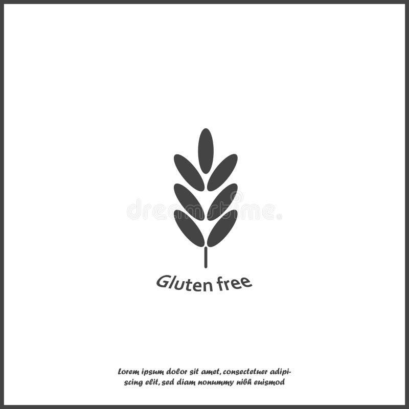 Il glutine libera Orecchie di grano, cereale Orecchio dell'avena orecchie della segale su fondo isolato bianco royalty illustrazione gratis