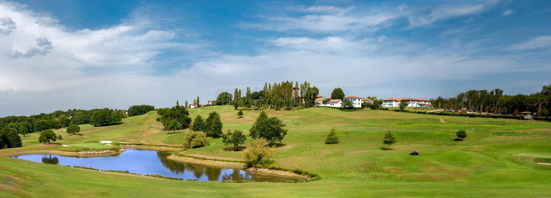 Il golf di Arcangues vicino a Biarritz fotografia stock