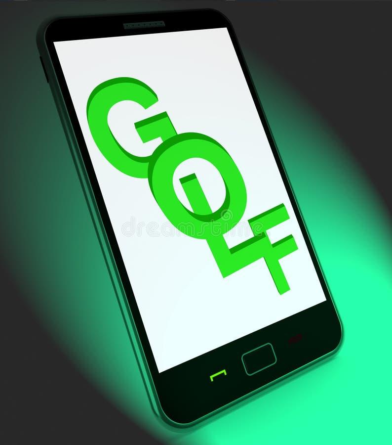 Il golf sul cellulare significa il club o Golfing del giocatore di golf illustrazione vettoriale