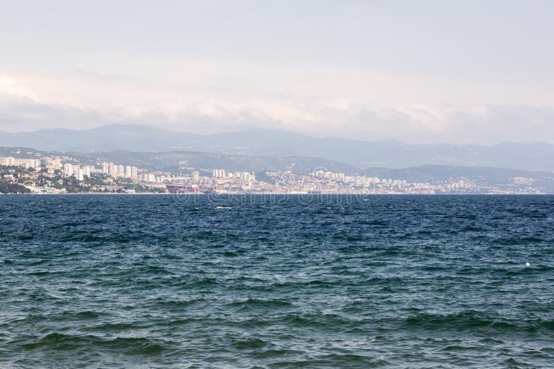 Il golfo di Kvarner in Croazia fotografie stock