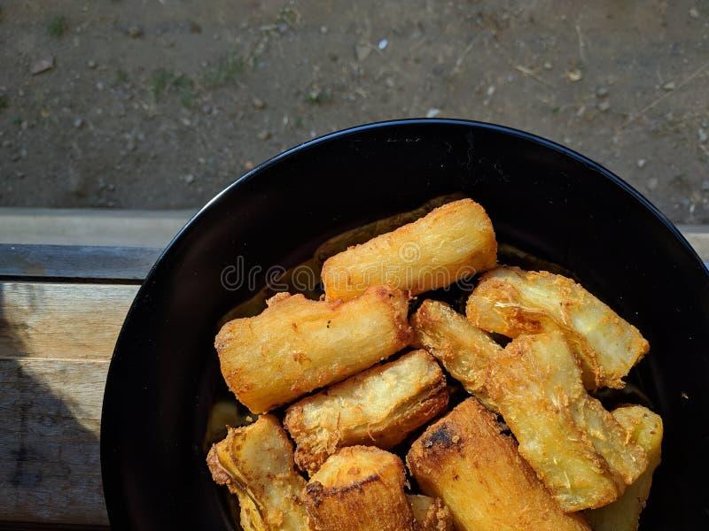 Il goreng di Singkong è alimento tradizionale indonesiano fotografia stock libera da diritti