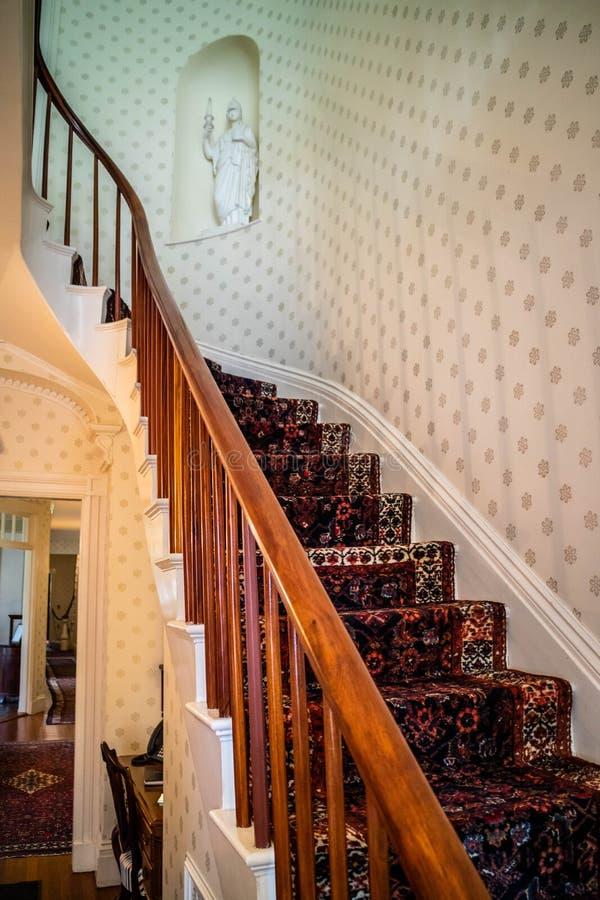 Il governatore ben conservato Mansion a Augusta, Maine immagini stock