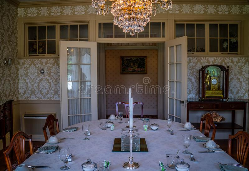 Il governatore ben conservato Mansion a Augusta, Maine fotografie stock