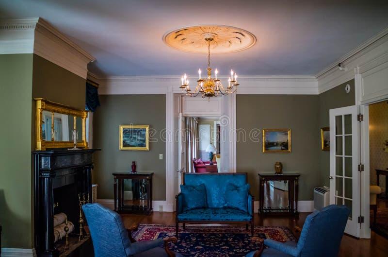 Il governatore ben conservato Mansion a Augusta, Maine fotografia stock
