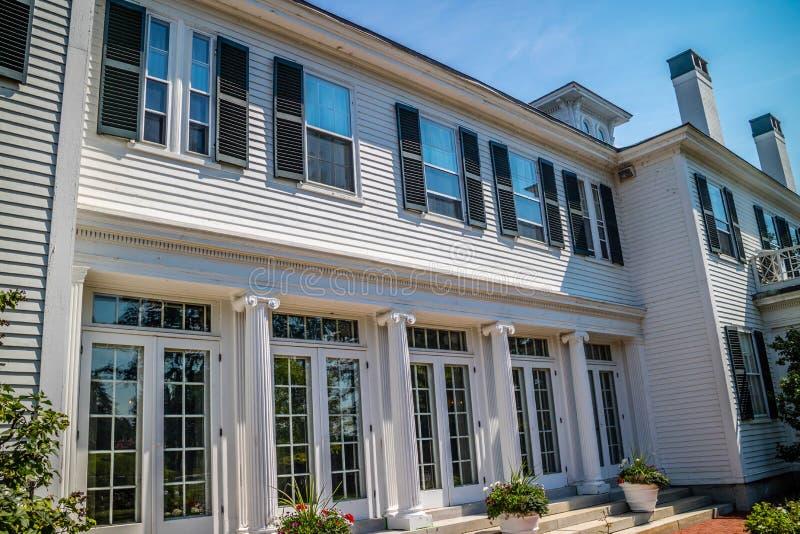 Il governatore ben conservato Mansion a Augusta, Maine immagine stock libera da diritti
