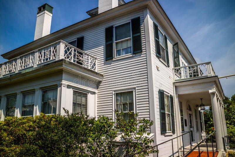 Il governatore ben conservato Mansion a Augusta, Maine immagini stock libere da diritti