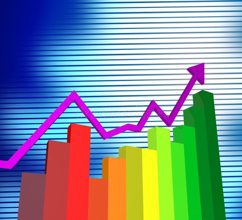 Il grafico commerciale mostra il commercio ed i grafici corporativi illustrazione vettoriale
