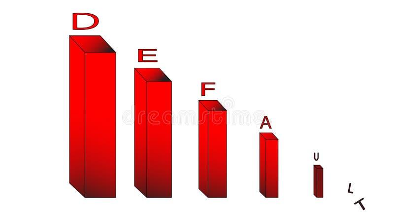 Il grafico rosso con l'iscrizione ha stabilizzato, defolt fotografie stock libere da diritti