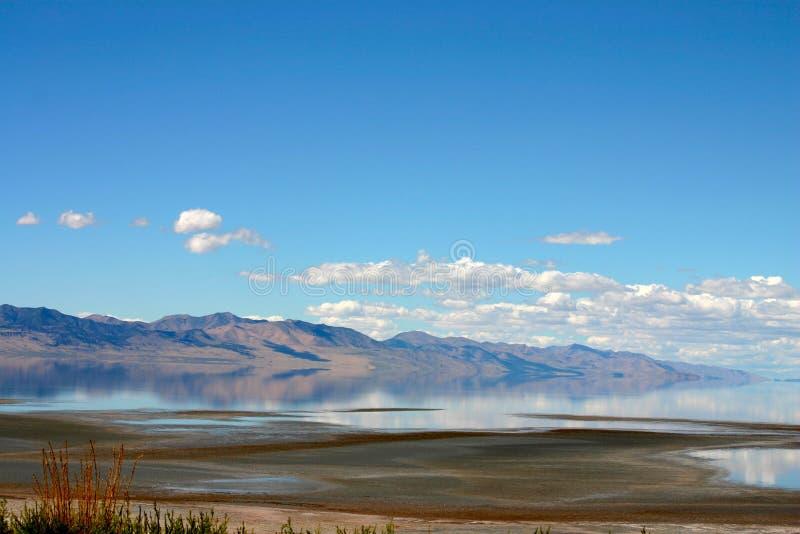 Il Gran Lago Salato fotografie stock libere da diritti