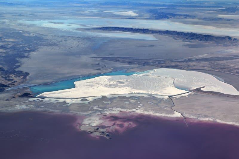 Il Gran Lago Salato, Utah fotografia stock