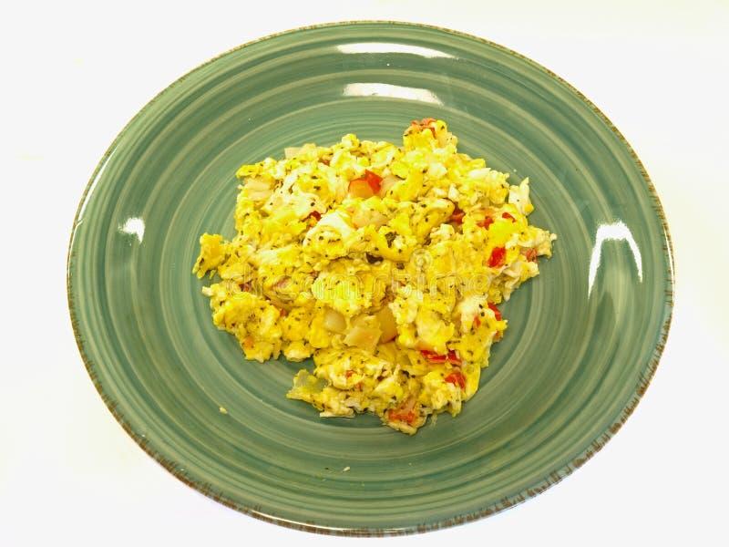 Il granchio & l'uovo mescolare-friggono fotografie stock libere da diritti