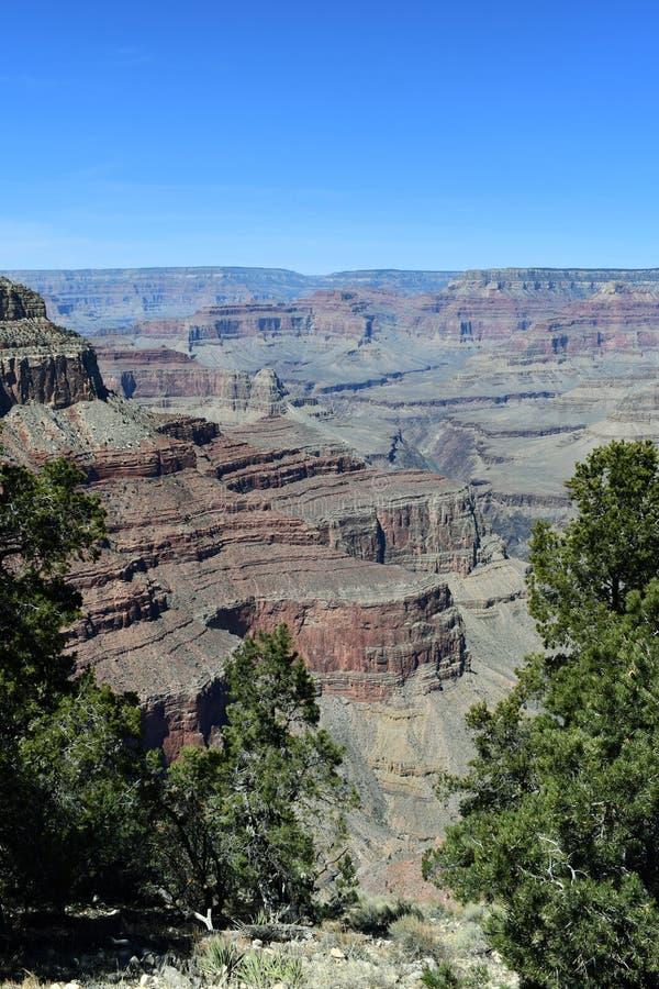 Il Grand Canyon nel pomeriggio immagine stock libera da diritti