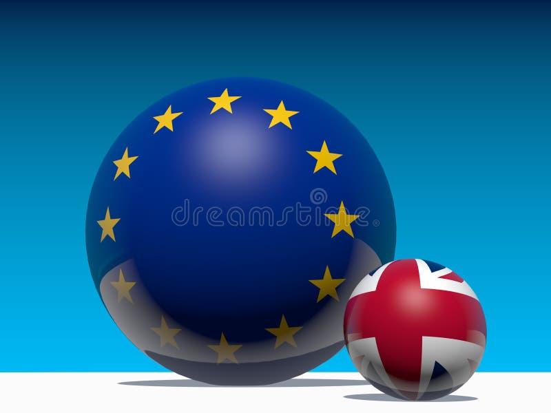 Il grande briitain lascia la metafora dell'Unione Europea illustrazione di stock