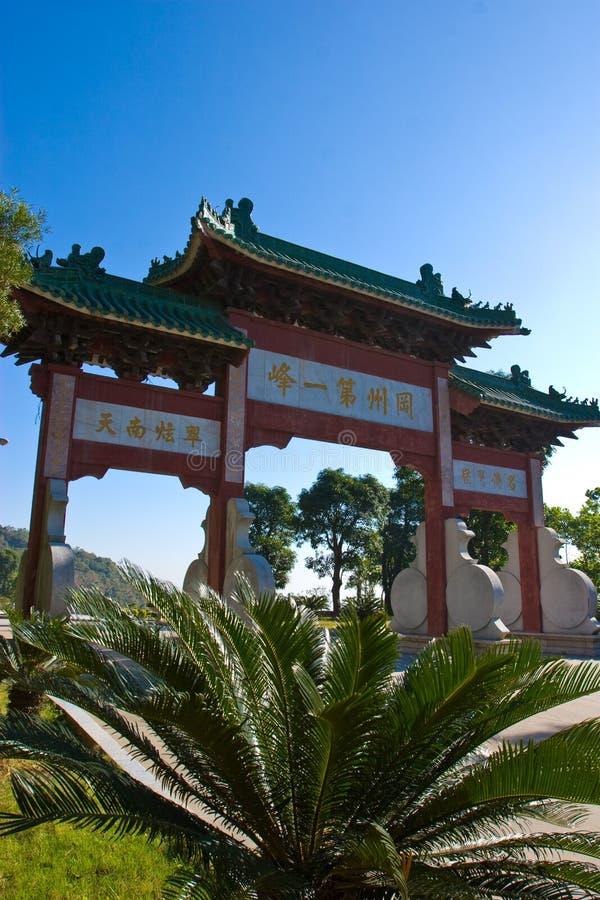 Il grande cancello di stile cinese immagine stock libera da diritti