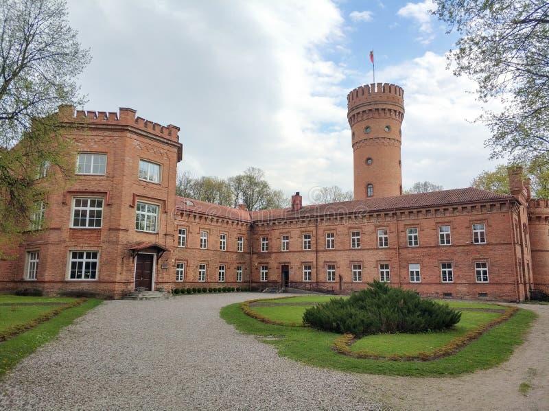 Il grande castello rosso fotografia stock