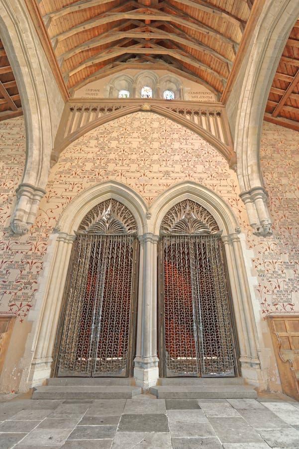 Il grande corridoio del castello di Winchester, Inghilterra immagine stock libera da diritti