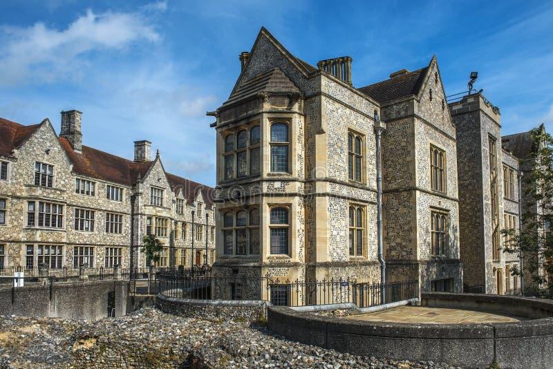 Il grande corridoio del castello di Winchester nel Hampshire, Inghilterra fotografia stock libera da diritti