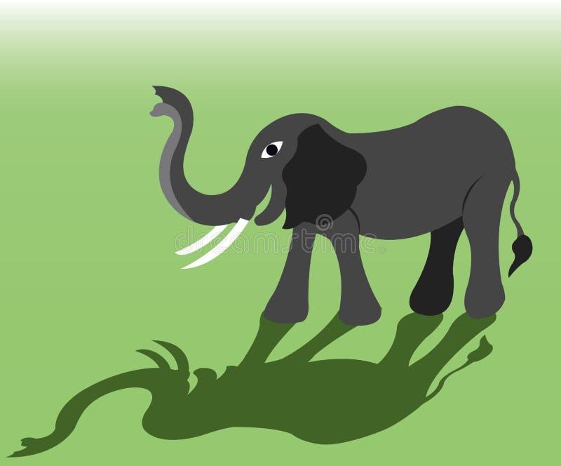 Il grande elefante royalty illustrazione gratis