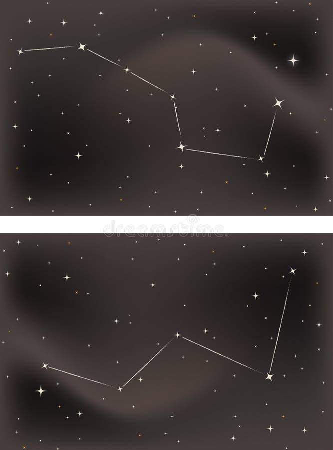 Download Il Grande Merlo Acquaiolo Ed Il Cassiopeia Illustrazione di Stock - Illustrazione di universo, astronomia: 21550344