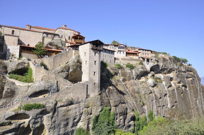 Il grande monastero di Meteoron di Meteora dalla regione di Kalambaka in Grecia immagine stock