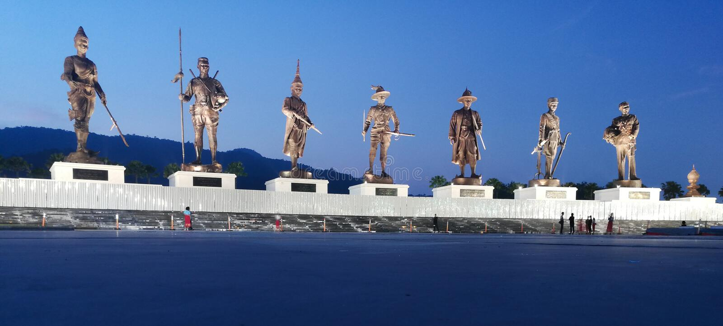 Il grande monumento di re, Tailandia fotografia stock