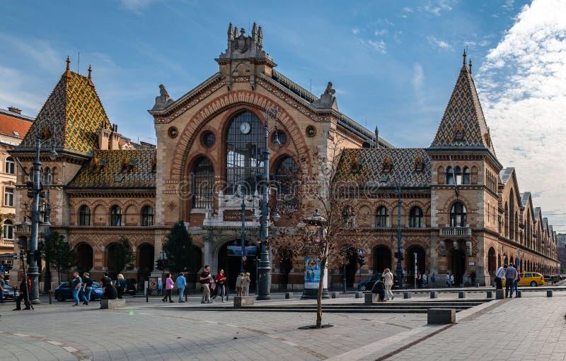 Il grande o mercato centrale Corridoio a Budapest fotografia stock