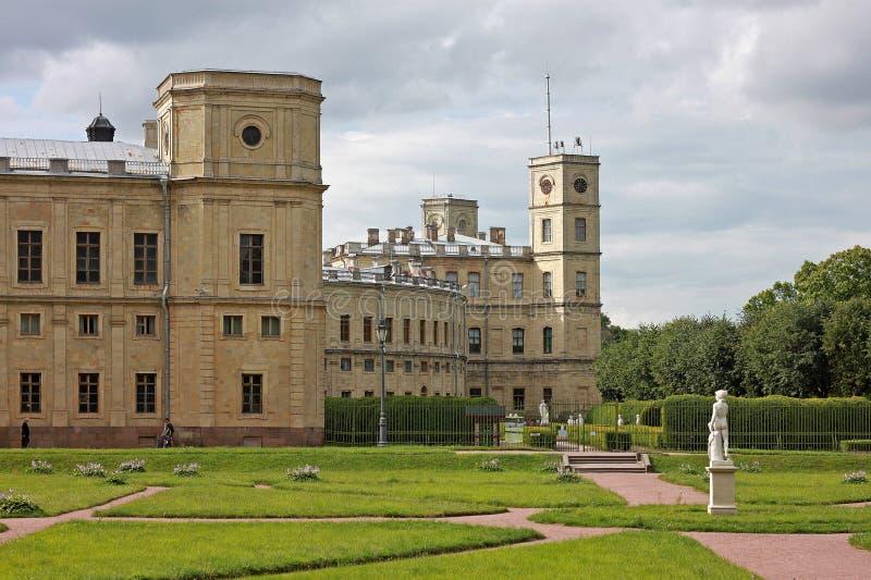 Il grande palazzo di Gatcina La Russia fotografia stock libera da diritti