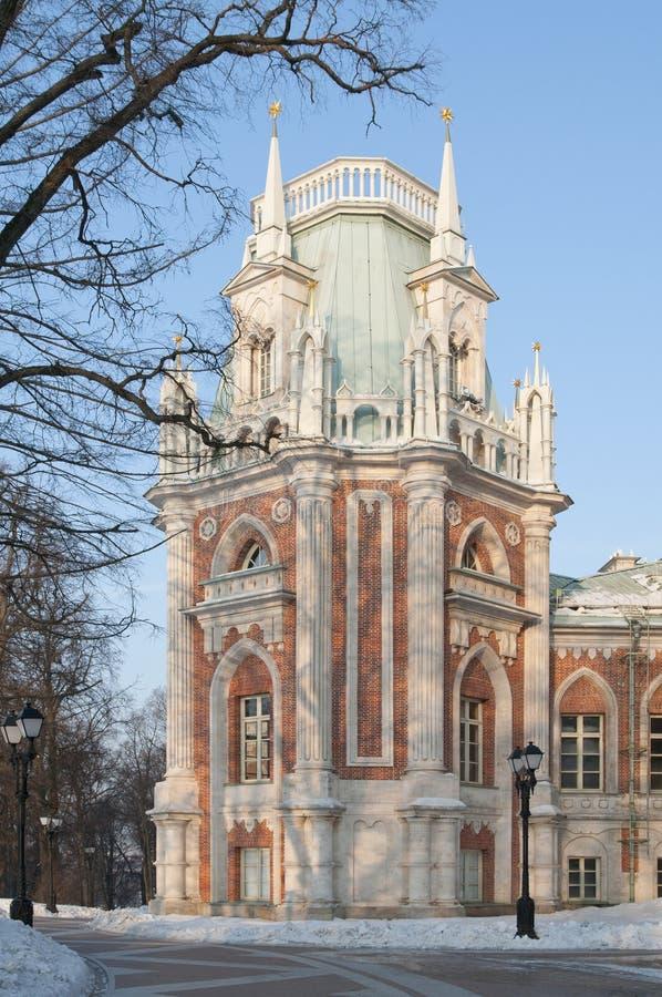 Il grande palazzo in Tsaritsino, Mosca immagini stock libere da diritti
