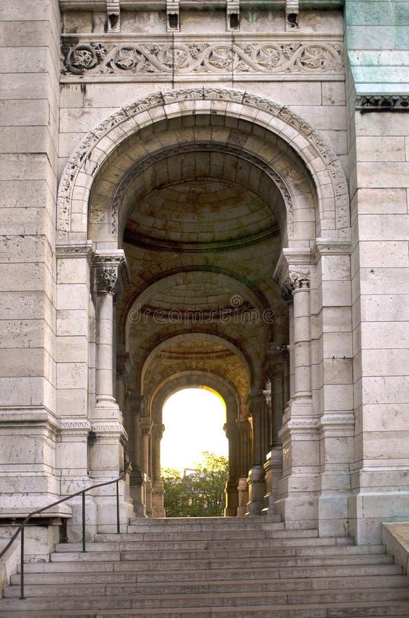 Il grande portello a Sacre Coeur   fotografie stock