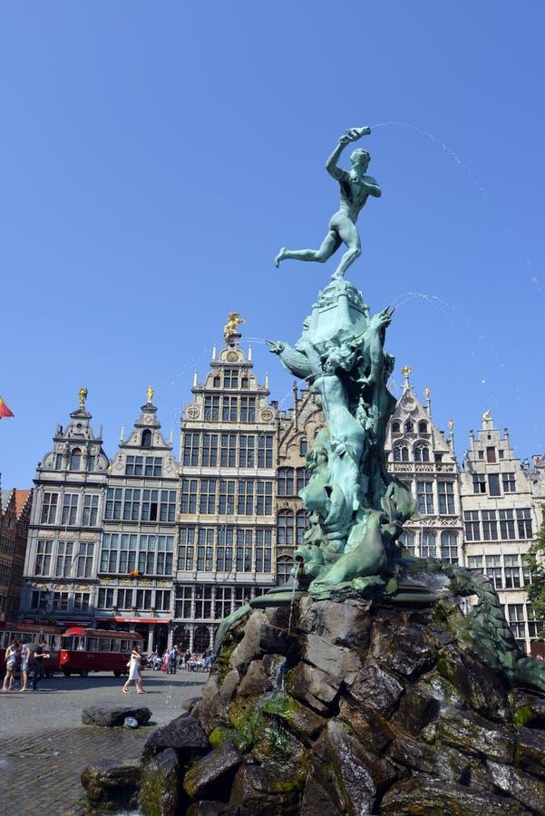 Il grande posto a Anversa immagini stock