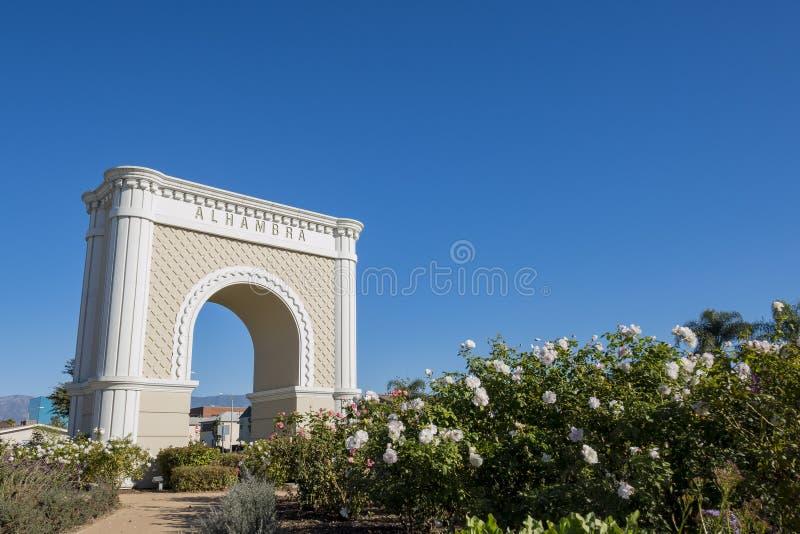 Il grande simbolo di Alhambra fotografia stock