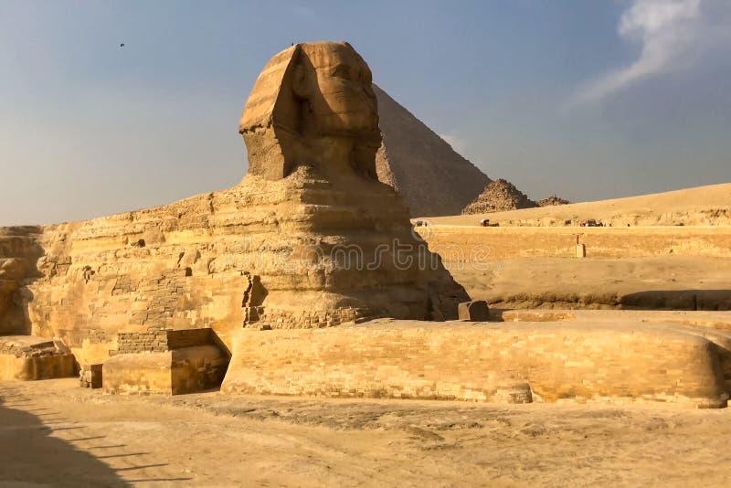 Il grande Sphinx Sphinx egiziano La settima meraviglia del mondo Megaliti antiche immagine stock