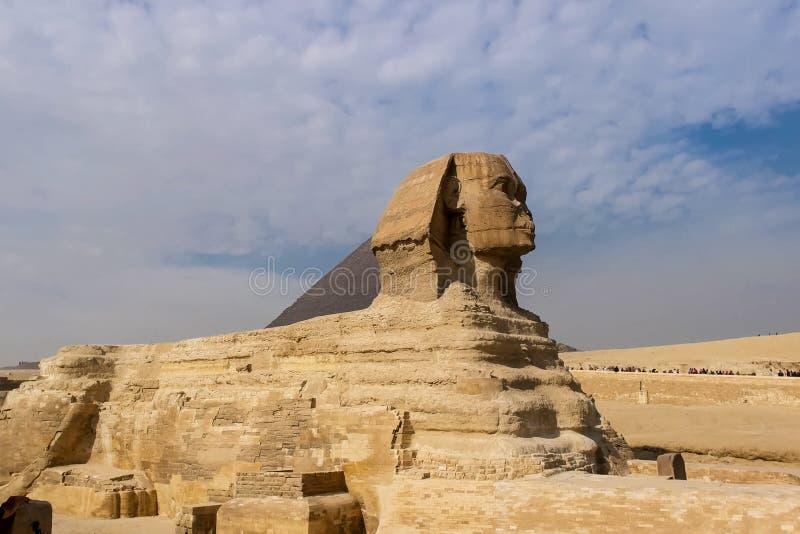 Il grande Sphinx Sphinx egiziano La settima meraviglia del mondo Megaliti antiche fotografie stock libere da diritti