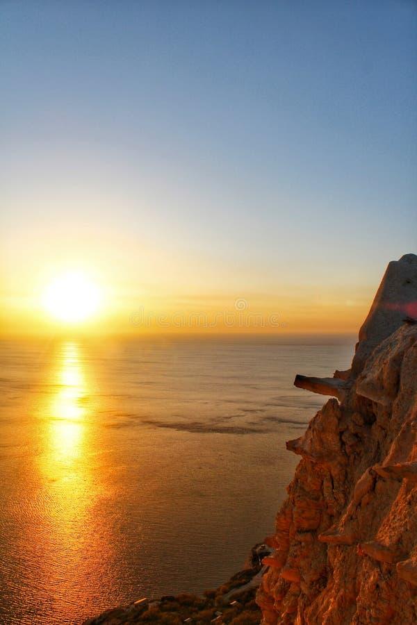 Il grande tramonto immagini stock