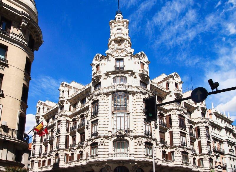 Il grande via, Madrid centrale, Spagna immagini stock libere da diritti