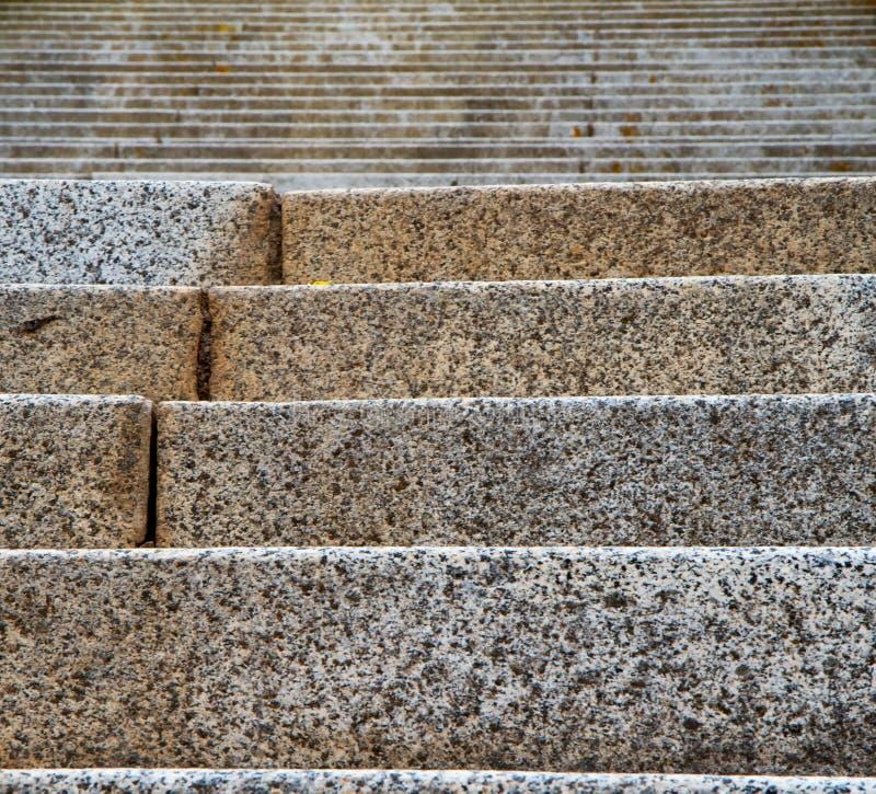 Il granito fa un passo quadrato lontano e vicino fotografie stock