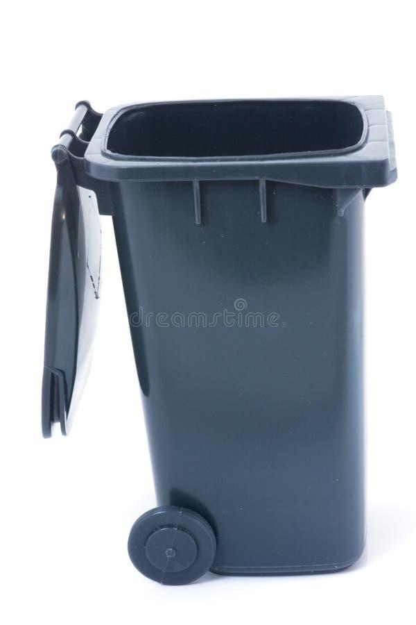 Il Grey aperto ricicla lo scomparto fotografia stock