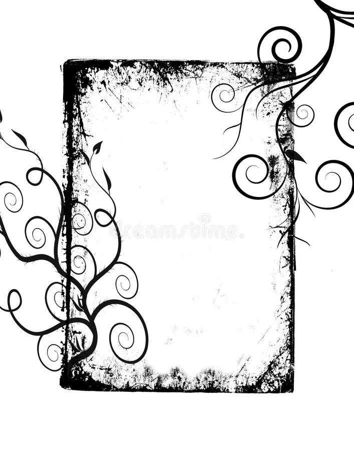 Il grunge nero turbina blocco per grafici royalty illustrazione gratis